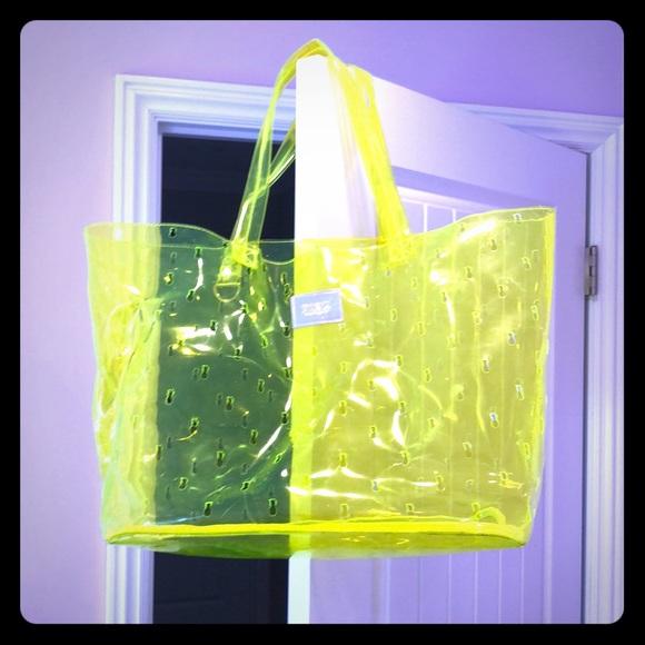 PINK Victoria's Secret Handbags - PINK by Victoria's Secret plastic tote